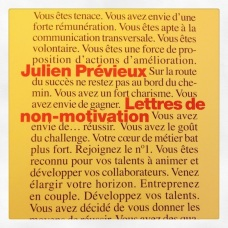 Lettres de non-motivation