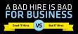 Un mauvais recrutement c'est pas bon pour le business !